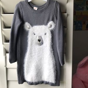 ADORABLE Gymboree sweater dress with fuzzy bear
